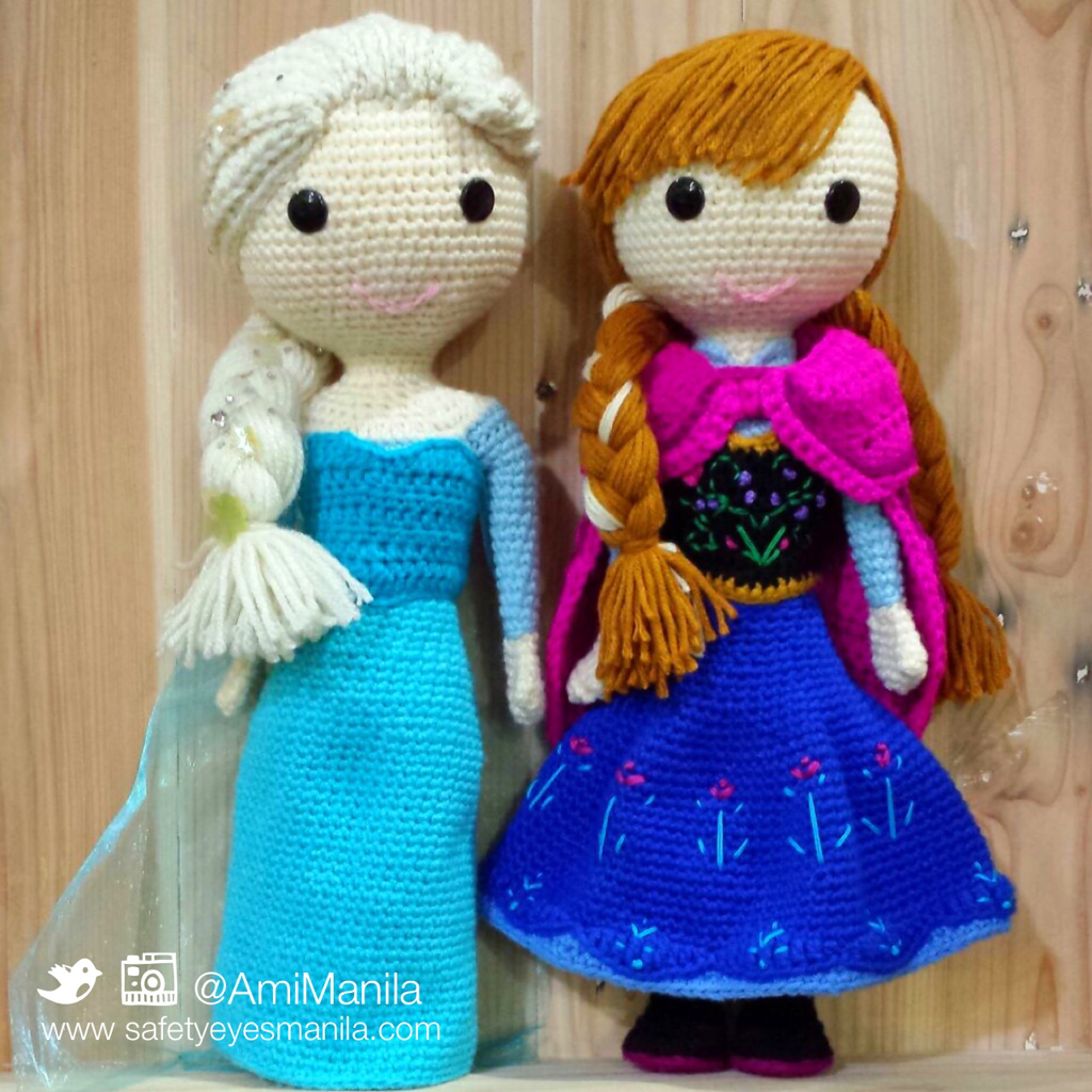 Crochet Elsa Amigurumi : Amigurumi - Safety Eyes and Ami Manila